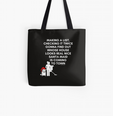 Santa Maid, Savvy Cleaner Funny Cleaning Gifts, Cleaning Tote Bag