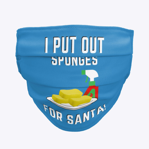 Sponges for Santa, Savvy Cleaner Funny Cleaning Gifts, Cleaning Cloth Face Mask