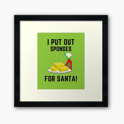 Sponges for Santa, Savvy Cleaner Funny Cleaning Gifts, Cleaning Framed Art Print