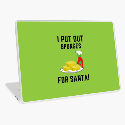 Sponges for Santa, Savvy Cleaner Funny Cleaning Gifts, Cleaning Laptop Skin