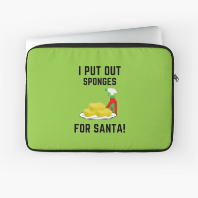 Sponges for Santa, Savvy Cleaner Funny Cleaning Gifts, Cleaning Laptop Sleeve