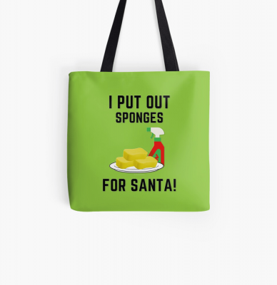 Sponges for Santa, Savvy Cleaner Funny Cleaning Gifts, Cleaning Tote Bag