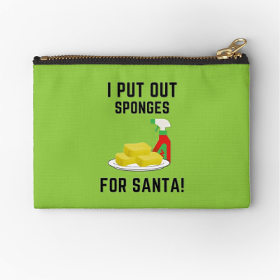 Sponges for Santa, Savvy Cleaner Funny Cleaning Gifts, Cleaning Zipper Bag