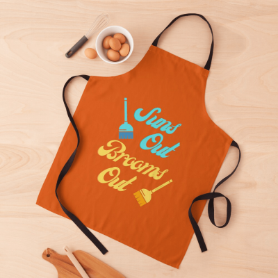 Suns Out Brooms Out, Savvy Cleaner Funny Cleaning Gifts, Cleaning Apron
