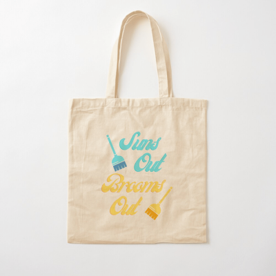 Suns Out Brooms Out, Savvy Cleaner Funny Cleaning Gifts, Cleaning Cotton Tote Bag
