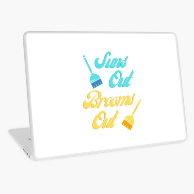 Suns Out Brooms Out, Savvy Cleaner Funny Cleaning Gifts, Cleaning Laptop Skin