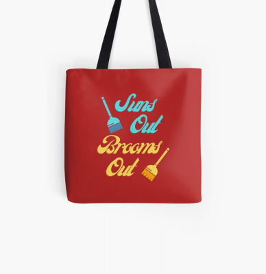 Suns Out Brooms Out, Savvy Cleaner Funny Cleaning Gifts, Cleaning Tote Bag