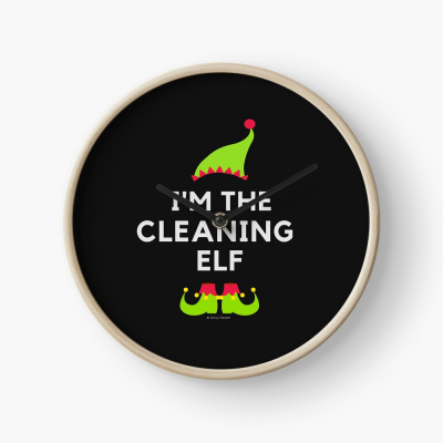 The Cleaning Elf, Savvy Cleaner Funny Cleaning Gifts, Cleaning Clock