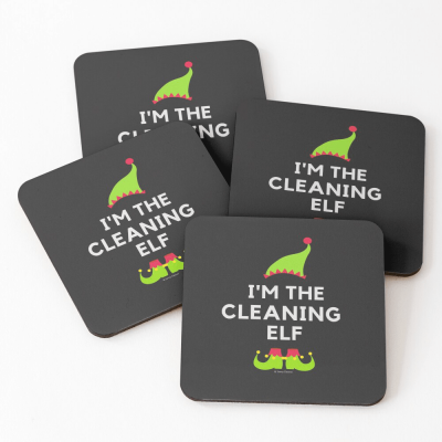 The Cleaning Elf, Savvy Cleaner Funny Cleaning Gifts, Cleaning Coasters