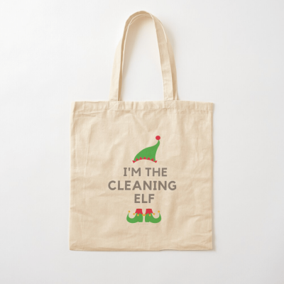 The Cleaning Elf, Savvy Cleaner Funny Cleaning Gifts, Cleaning Cotton Tote Bag