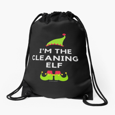 The Cleaning Elf, Savvy Cleaner Funny Cleaning Gifts, Cleaning Drawstring Bag