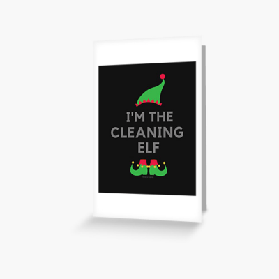 The Cleaning Elf, Savvy Cleaner Funny Cleaning Gifts, Cleaning Greeting Card