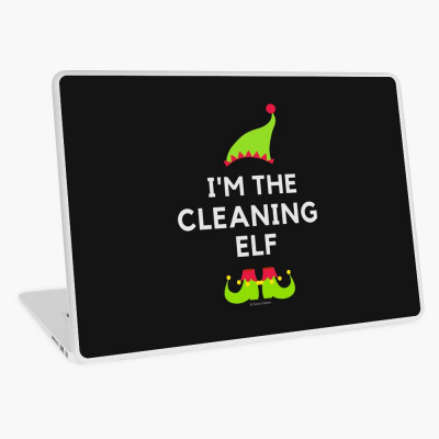 The Cleaning Elf, Savvy Cleaner Funny Cleaning Gifts, Cleaning Laptop Skin