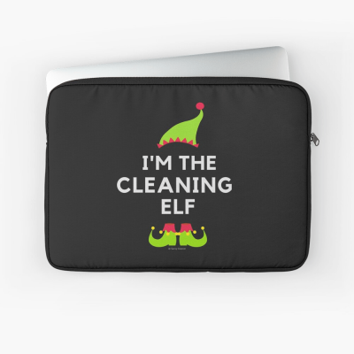 The Cleaning Elf, Savvy Cleaner Funny Cleaning Gifts, Cleaning Laptop Sleeve