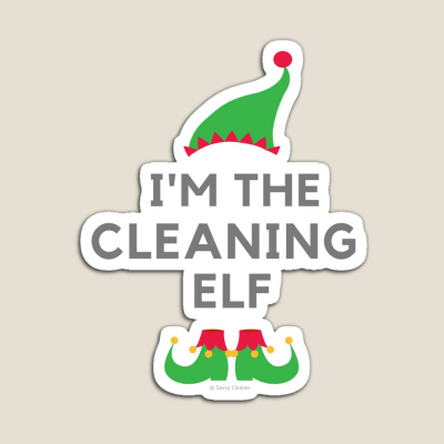 The Cleaning Elf, Savvy Cleaner Funny Cleaning Gifts, Cleaning Magnet