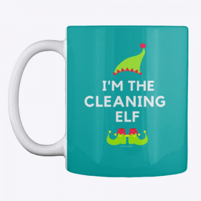 The Cleaning Elf, Savvy Cleaner Funny Cleaning Gifts, Cleaning Mug