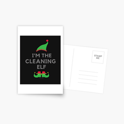 The Cleaning Elf, Savvy Cleaner Funny Cleaning Gifts, Cleaning Postcard
