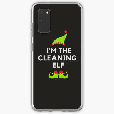 The Cleaning Elf, Savvy Cleaner Funny Cleaning Gifts, Cleaning Samsung Galaxy Phone Case