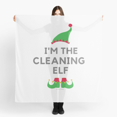 The Cleaning Elf, Savvy Cleaner Funny Cleaning Gifts, Cleaning Scarf