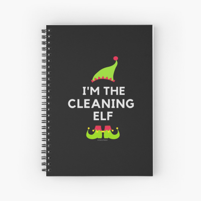 The Cleaning Elf, Savvy Cleaner Funny Cleaning Gifts, Cleaning Spiral Notepad