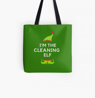 The Cleaning Elf, Savvy Cleaner Funny Cleaning Gifts, Cleaning Tote Bag