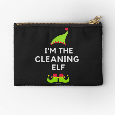 The Cleaning Elf, Savvy Cleaner Funny Cleaning Gifts, Cleaning Zipper Bag