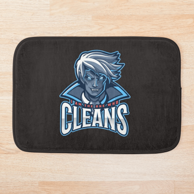 The One Who Cleans, Savvy Cleaner Funny Cleaning Gifts, Cleaning Bath Mat
