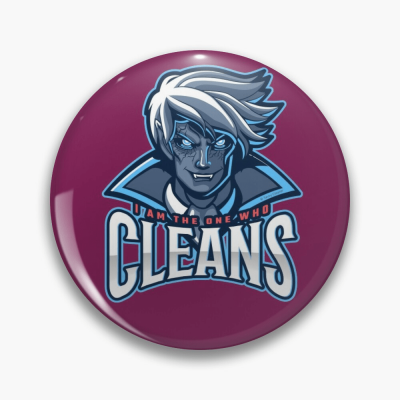 The One Who Cleans, Savvy Cleaner Funny Cleaning Gifts, Cleaning Button