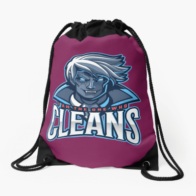 The One Who Cleans, Savvy Cleaner Funny Cleaning Gifts, Cleaning Drawstring Bag