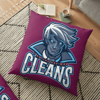 The One Who Cleans, Savvy Cleaner Funny Cleaning Gifts, Cleaning Floor pillow