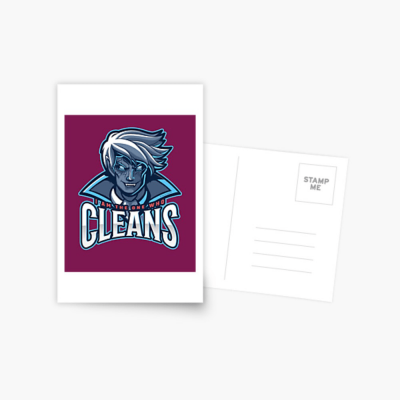 The One Who Cleans, Savvy Cleaner Funny Cleaning Gifts, Cleaning Postcard