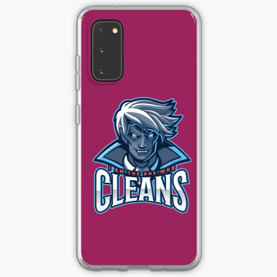 The One Who Cleans, Savvy Cleaner Funny Cleaning Gifts, Cleaning Samsung Galaxy Phone Case