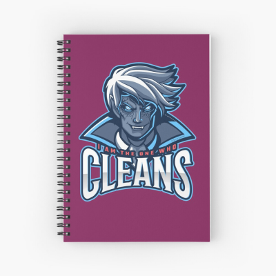 The One Who Cleans, Savvy Cleaner Funny Cleaning Gifts, Cleaning Spiral Notepad