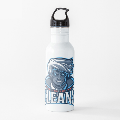 The One Who Cleans, Savvy Cleaner Funny Cleaning Gifts, Cleaning Water Bottle