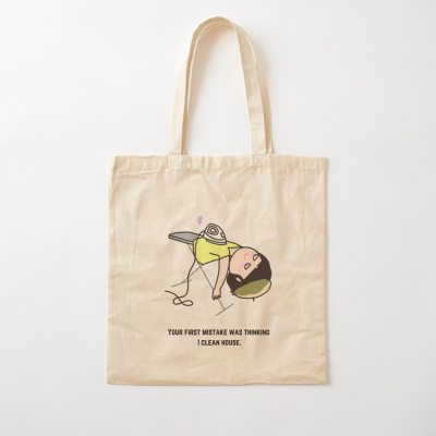 Thinking I Clean House, Savvy Cleaner Funny Cleaning Gifts, Cleaning Cotton Tote Bag