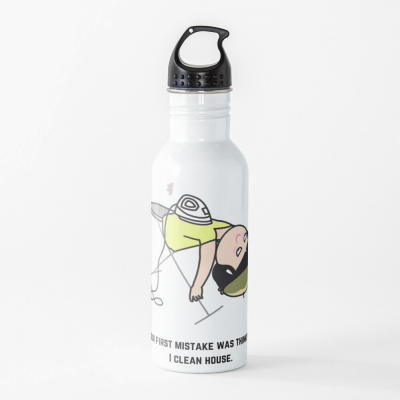 Thinking I Clean House, Savvy Cleaner Funny Cleaning Gifts, Cleaning Water Bottle
