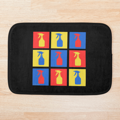Andy SprayAll, Savvy Cleaner, Funny Cleaning Gifts, Cleaning Bathmat