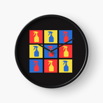 Andy SprayAll, Savvy Cleaner, Funny Cleaning Gifts, Cleaning Clock