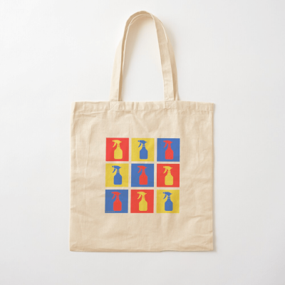 Andy SprayAll, Savvy Cleaner, Funny Cleaning Gifts, Cleaning Cotton Tote Bag