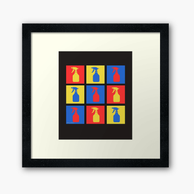 Andy SprayAll, Savvy Cleaner, Funny Cleaning Gifts, Cleaning Framed Art Print