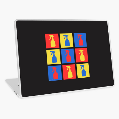 Andy SprayAll, Savvy Cleaner, Funny Cleaning Gifts, Cleaning Laptop Skin