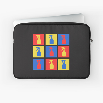 Andy SprayAll, Savvy Cleaner, Funny Cleaning Gifts, Cleaning Laptop Sleeve