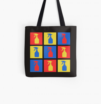 Andy SprayAll, Savvy Cleaner, Funny Cleaning Gifts, Cleaning Tote Bag