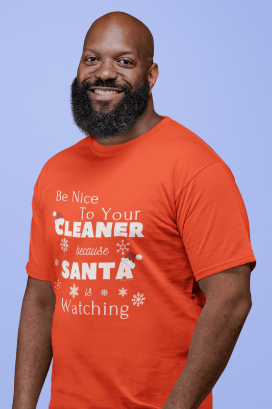 Be Nice to Your Cleaner Savvy Cleaner Funny Cleaning Shirts Comfort T-Shirt