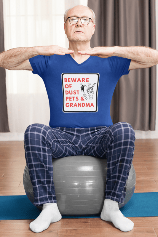 Beware of Grandma Savvy Cleaner Funny Cleaning Shirts Premium V-Neck T-Shirt