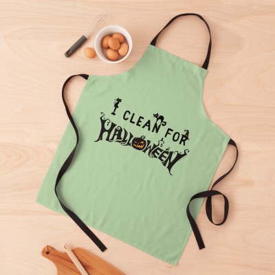 Clean for Halloween, Savvy Cleaner, Funny Cleaning Gifts, Cleaning Apron