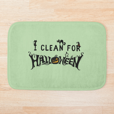 Clean for Halloween, Savvy Cleaner, Funny Cleaning Gifts, Cleaning Bathmat