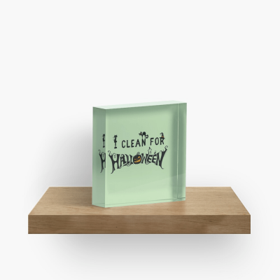 Clean for Halloween, Savvy Cleaner, Funny Cleaning Gifts, Cleaning Collectible Cube