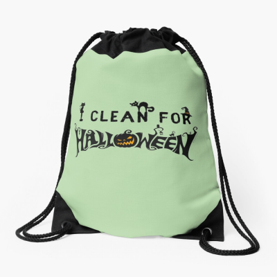 Clean for Halloween, Savvy Cleaner, Funny Cleaning Gifts, Cleaning Drawstring Bag