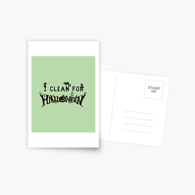 Clean for Halloween, Savvy Cleaner, Funny Cleaning Gifts, Cleaning Postcard